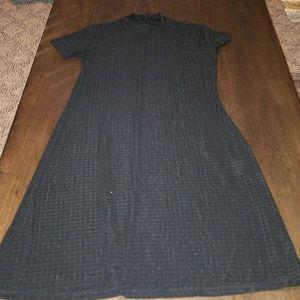 Black stretchy turtleneck dress